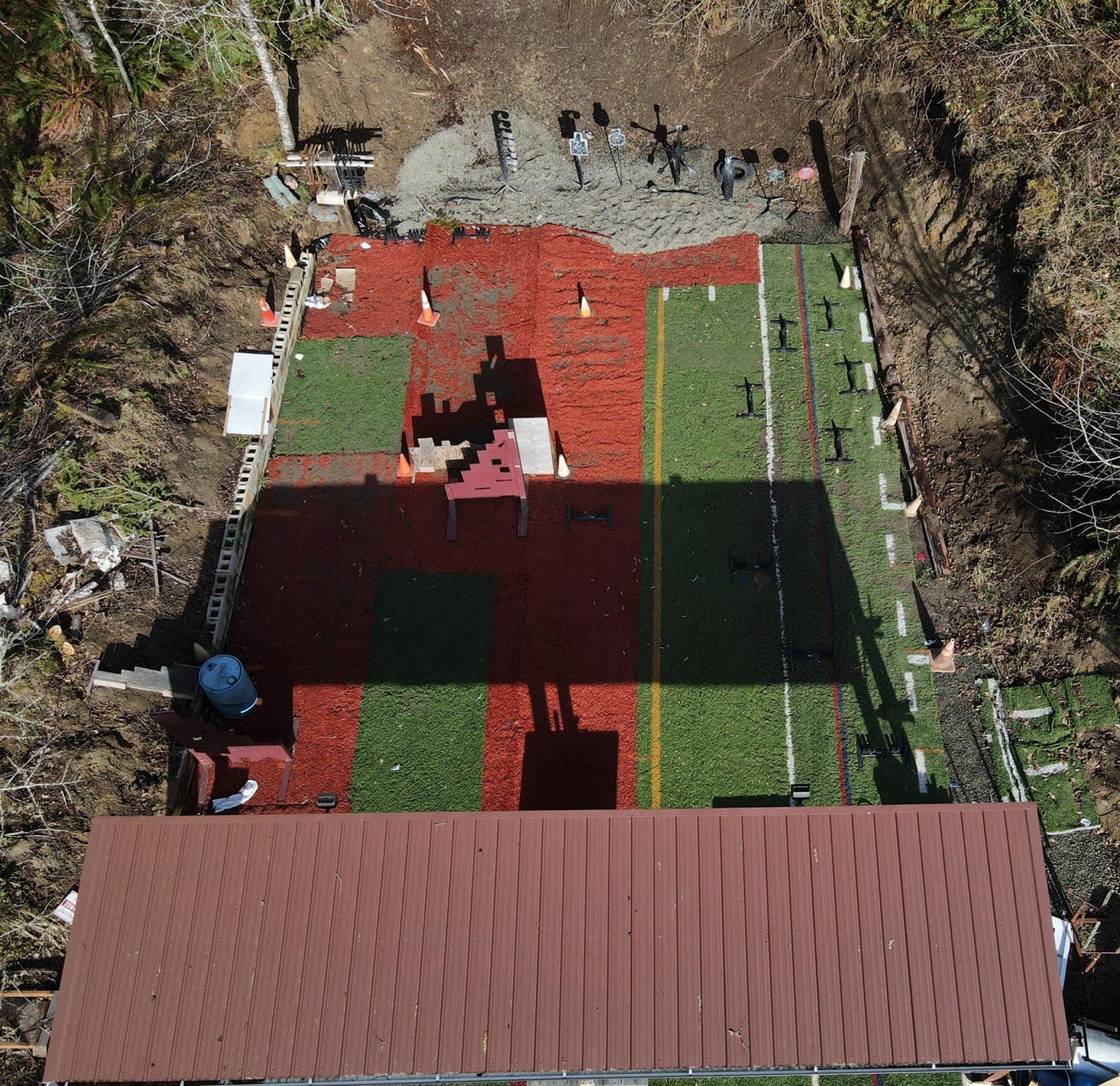 arial view of shooting range